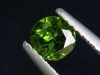 Chrome Diopside 0,38 Ct. round, bottle green, Russia
