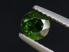 Chrome Diopside 0,62 Ct. round, bottle green, Russia