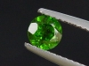 Chrome Diopside 0,56 Ct. round, bottle green, Russia