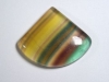 Fluorite 68,79 Ct. multicolor banded fancy trillion cabochon