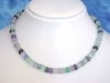 Multicolor Fluorite necklace 220,00 Ct. fine faceted