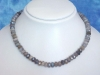 Labradorite faceted necklace 209,10 Ct. blue shimmer