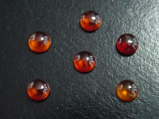 Hessonit Granat Lot 10,68 Ct. Rund Cabochons 7 mm