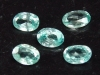 5 x Blauer Zirkon / Starlit Lot 2,34 Ct. Oval