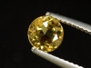 Goldberyll / goldener Edelberyll 0,86 Ct. Rund 6 mm Brasilien