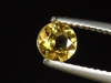 Goldberyll / goldener Edelberyll 0,47 Ct. Rund 5 mm Brasilien