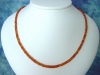Mandaringranat Kette 59,60 Ct. facettierte Granat Kette orange 45,5 cm